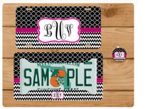 Chevron License Plate Custom Car Tag Autotag by totebags4lesscom