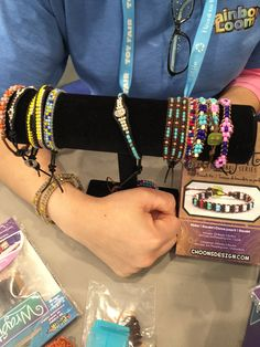 Bracelets made with Wrap it Loom.
