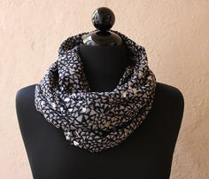 Cotton Infinity Scarf / silver & gray / Uncovet