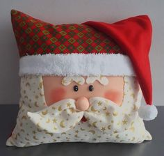 Christmas Clay, Christmas Ornament Crafts, Merry Christmas, Christmas Decorations, Holiday Decor, Flower Pillow, Quilted Pillow, Fifa, Fabric Crafts