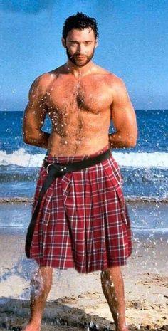 Hugh Jackman sporting a kilt!!!!!!! OMG!!!!!! The best of all my fantasies!!!