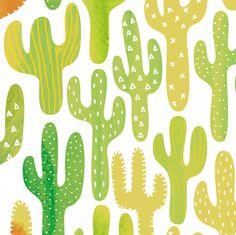 SW Cacti by Friztin fabric by friztin on Spoonflower - custom fabric