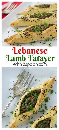 Lebanese Lamb Fatayer | ethnicspoon.com