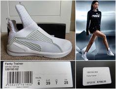 Puma Fenty entrenador White//White zapatos zapatillas blanco 189193 02