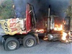 ELN es responsable de la quema de dos tractomulas en Norte de Santander | 20140726