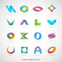 Colección de logotipos planos Vector Gratis