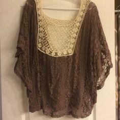 Maurices Tops - Poncho style lace top
