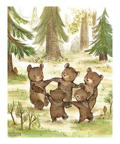 Love this Bear Dance Print by trafalgar's square on #zulily! #zulilyfinds