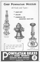 Chief Powhatan Nozzles 1955 Ad Picture
