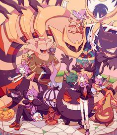Ghost Type Pokemon, Pokemon Fan Art, My Pokemon, Cool Pokemon, Pokemon Comics, Pokemon Memes, Pokemon Fantasma, Pokemon Original, Pikachu
