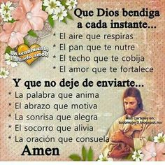 Angeles De Jesus (@energiacristic) | Twitter Gods Love Quotes, Faith Quotes, Bible Quotes, Best Quotes, Happy Day Quotes, Good Morning Quotes, Spiritual Words, Healing Words, Catholic Prayers In Spanish