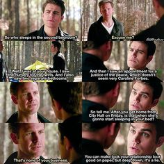 [7x19 - Somebody That I Used to Know] I love savage Stefan he slayed Alaric to the ground @soulvatore ⠀ Calaric (Caroline/Ric) or Steroline? ⠀ My edit give credit [#stefansalvatore#alaricsaltzman#tvd#thevampirediaries#vampirediaries#7x19 106.9k] Alaric And Caroline, Caroline Forbes, Justice Of The Peace, Ian Somerhalder Vampire Diaries, Hello Brother, Movie Quotes, Tvd Quotes, Vampire Dairies, Netflix And Chill