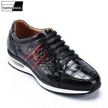 4790c5b5c R$ 777.45 39% de desconto|Homens bolsa de Viagem de luxo De Couro De  Crocodilo Real Sapatos de Plataforma Antiderrapante Corredores Sneakers  Loafers ...
