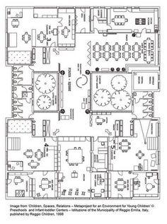 Reggio Emilia school floor plan in Italy