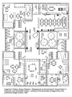 Reggio Emilia school floor plan in Italy