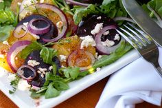 Restaurant in Laguna Beach, CA Organic Restaurant, Wood Grill, Lemon Vinaigrette, Roasted Beets, Laguna Beach, Arugula, Onions, Feta, Grilling