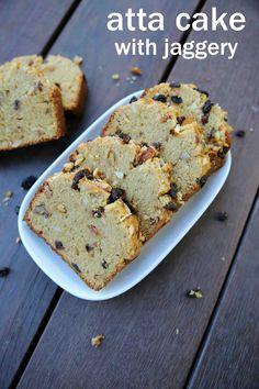 atta cake recipe | eggless wheat cake recipe | healthy atta cake without sugar