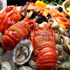 Drooling over the Spasso's seafood brunch!