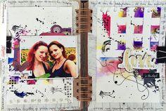 Napsztrakt Im In Love, Mixed Media Art, Photo Wall, Polaroid Film, Scrapbook, Frame, Journal, Photography, Scrapbooks