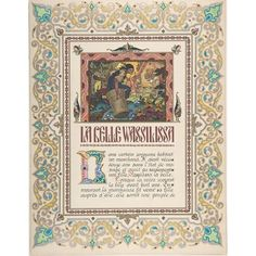"Story Title Page La Belle Vassilissa verso text Poster Print by Boris Zvorykin (Russian Moscow 1872  ""1942 Paris) (18 x 24)"