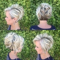 Hairstyle Stylish Messy Hairstyles for Short Hair - Women Short Haircut Ideas by alexandri. Stylish Messy Hairstyles for Short Hair - Women Short Haircut Ideas by alexandria Short Hair Cuts For Women, Short Hairstyles For Women, Trendy Hairstyles, Braided Hairstyles, Short Haircuts, Glasses Hairstyles, Hairstyles 2018, Wedding Hairstyles, Haircut Short