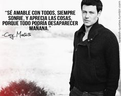 Cory... in Spanish. Appreciate everything, because it could all disappear tomorrow (roughly)