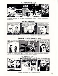 """From the fifth issue of Cartoonist PROfiles , February 1970: Roy Crane shares more from his scrapbook """"How to Draw Buz Sawyer.""""   This is t..."""