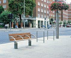 GEO Street furniture by Woodhouse installed at Kensington High Street | Lifschutz Davidson Sandilands