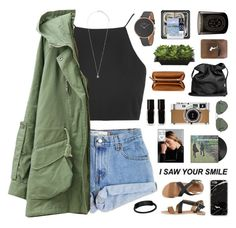 """""""i realize i want u back."""" by tiaranurindaa ❤ liked on Polyvore featuring Levi's, Topshop, IPANEMA, Pieces, Ray-Ban, Alasdair, The New Black, Hermès, Ann Demeulemeester and Palila"""