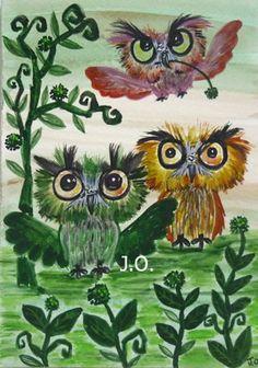 Scruffy Owls~ So WhôÔ Gives A HôÔt? — I Love Them Even More! ~ c.c.c ~ etsy.com