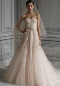 image of Whimsacle Wedding Dress  - Monique llhulier - blush!