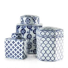 BLUE GINGER JARS Morgan & Finch | Bed Bath N' Table Little White, Blue And White, Style Challenge, Ginger Jars, Delft, Bed & Bath, Blue Things, House Design, Table Decorations