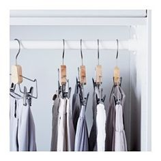 IKEA - BUMERANG, Pants/skirt hanger, The clips can be adjusted to suit your needs.
