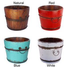 Vintage Chatwell Wooden Bucket - Overstock Shopping - Great Deals on Antique Revival Accent Pieces