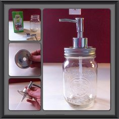 So my kiddos needed a new soap dispenser in their bathroom. I could have just went and bought the 98 cent soap dispensers at Wally World and be done with it, but that's just not how I roll. LOL!! My sister and I have made these before, but they were REALLY basic. With this one I took it up a notch!! Whatcha think?   ***Flotsam and Jetsam***
