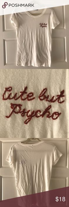 "Brandy Melville ""Cute but Psycho"" Top Brandy Melville ""Cute but Psycho"" Top - open to offers Brandy Melville Tops"