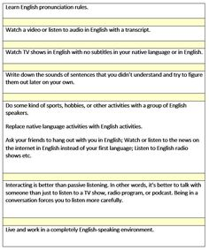 How to improve your listening skills - learn English,english,listening
