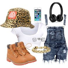 A fashion look from September 2014 featuring Timberland boots, BCBGMAXAZRIA bracelets and Milkcrate hats. Browse and shop related looks.