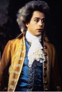 """Actor Tom Hulce did a tremendous job playing Wolfgang Amadeus Mozart in the 1984 film """"Amadeus. Tom Hulce, Kramer Vs Kramer, Ballet Music, Amadeus Mozart, Pleasing People, Rococo Fashion, Film Studies, Gary Oldman, Music Composers"""