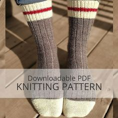 AVALON Ribbed Sock Knitting Pattern More