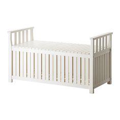 storage for outdoor cushions, spa equipment etc.. ÄNGSÖ Storage bench - white  - IKEA