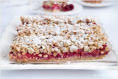 Kruche ciasto owsiane z malinami - I Love Bake