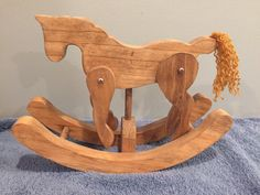 Wooden Rocking Horse by SpinnerWoodwork on Etsy