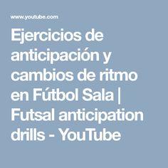 Ejercicios de anticipación y cambios de ritmo en Fútbol Sala | Futsal anticipation drills - YouTube Studio, Youtube, Soccer Drills, Studios, Youtubers, Youtube Movies