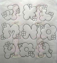 moldes de letras con fores de la web