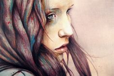 "Close up of ""The Girl and the Owl""   http://michaelshapcott.deviantart.com/art/quot-The-Girl-and-the-Owl-quot-Detail-162414958"