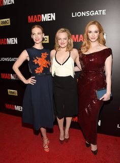 Pin for Later: This Week's Can't-Miss Celebrity Photos  January Jones, Elisabeth Moss, and Christina Hendricks posed at a Mad Men screening in New York on Sunday.