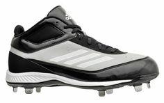 Adidas Mens Baseball Cleats - Xtra Bases 2 Metal Mid - Black Gray White -  NEW