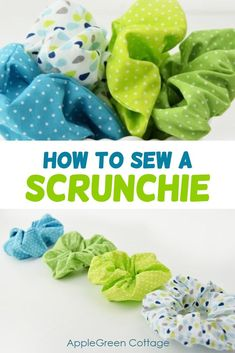 How to make a scrunchie - hair scrunchies are a quick and easy sewing project anyone can do. You don\'t even need a pattern to make these, and it\'s so much fun! Also check out more than 100 other free tutorials on this site! #diyaccessories #easyproject #diy