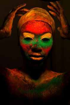 African face paint for celebration #Onetwentywatts #designfamily #inspirationbook www.onetwentywatt...